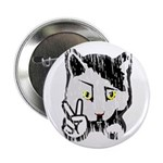 "Peaceful Cat 2.25"" Button (10 pack)"