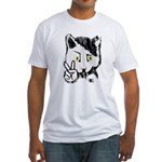Peaceful Cat Fitted T-Shirt