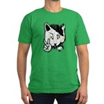 Peaceful Cat Men's Fitted T-Shirt (dark)