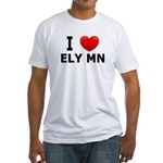 I Love Ely Fitted T-Shirt