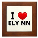 I Love Ely Framed Tile