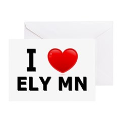 I Love Ely Greeting Card