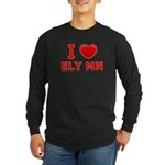 I Love Ely Long Sleeve Dark T-Shirt