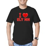 I Love Ely Men's Fitted T-Shirt (dark)
