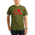 I Love Ely Organic Men's T-Shirt (dark)