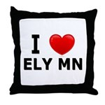 I Love Ely Throw Pillow