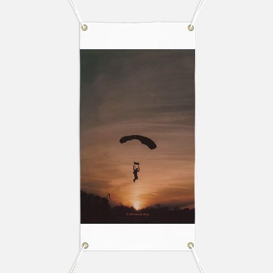 Sunset Skydiver Banner
