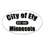 Ely Established 1891 Oval Sticker (10 pk)