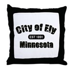 Ely Established 1891 Throw Pillow