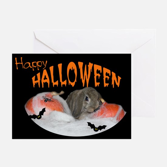 Bunny and pumpkins Greeting Cards (Pk of 10)