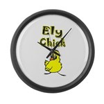 Ely Chick Large Wall Clock