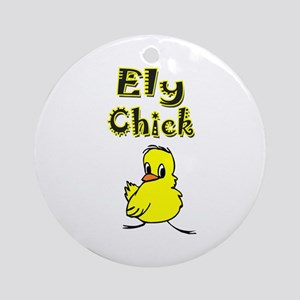Ely Chick Ornament (Round)