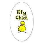 Ely Chick Oval Sticker (10 pk)