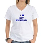 I Love Ely Winter Women's V-Neck T-Shirt