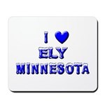 I Love Ely Winter Mousepad