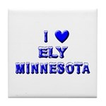 I Love Ely Winter Tile Coaster