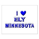 I Love Ely Winter Small Poster