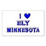 I Love Ely Winter Rectangle Sticker