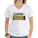 Ely Beer Drinking Team Women's V-Neck T-Shirt