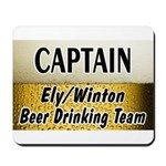 Ely Beer Drinking Team Mousepad