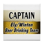 Ely Beer Drinking Team Tile Coaster
