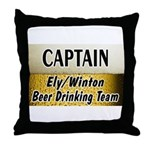 Ely Beer Drinking Team Throw Pillow