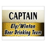 Ely Beer Drinking Team Small Poster