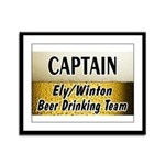 Ely Beer Drinking Team Framed Panel Print