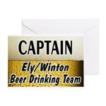 Ely Beer Drinking Team Greeting Card