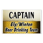 Ely Beer Drinking Team Rectangle Sticker