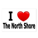 I Love The North Shore Postcards (Package of 8)