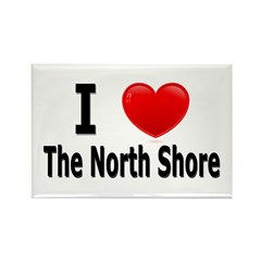 I Love The North Shore Rectangle Magnet (100 pack)