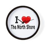 I Love The North Shore Wall Clock