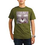 Vigilant Cat Organic Men's T-Shirt (dark)