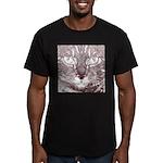 Vigilant Cat Men's Fitted T-Shirt (dark)