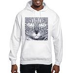 Vigilant Cat (blue) Hooded Sweatshirt