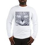 Vigilant Cat (blue) Long Sleeve T-Shirt