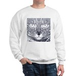 Vigilant Cat (blue) Sweatshirt