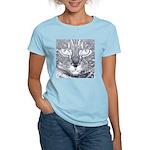 Vigilant Cat (blue) Women's Light T-Shirt