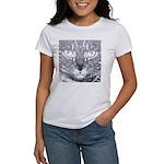 Vigilant Cat (blue) Women's T-Shirt