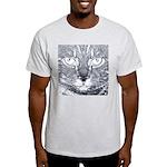 Vigilant Cat (blue) Light T-Shirt