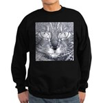 Vigilant Cat (blue) Sweatshirt (dark)