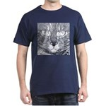 Vigilant Cat (blue) Dark T-Shirt