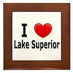 I Love Lake Superior Framed Tile