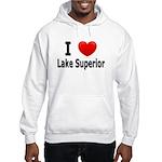 I Love Lake Superior Hooded Sweatshirt