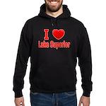 I Love Lake Superior Hoodie (dark)