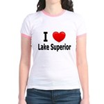 I Love Lake Superior Jr. Ringer T-Shirt
