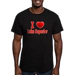 I Love Lake Superior Men's Fitted T-Shirt (dark)