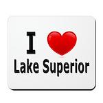 I Love Lake Superior Mousepad