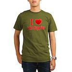 I Love Lake Superior Organic Men's T-Shirt (dark)
